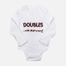 Doubles Long Sleeve Infant Bodysuit