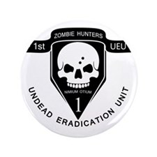 "Zombie Hunters 3.5"" Button"