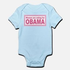 Women Are Voting For Obama Infant Bodysuit