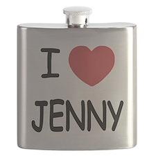 I heart JENNY Flask