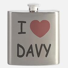 I heart DAVY Flask