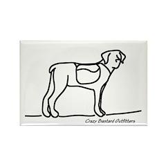 Hiking Dog Rectangle Magnet (100 pack)