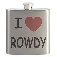 I heart ROWDY Flask