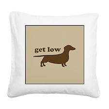 Get Low Square Canvas Pillow