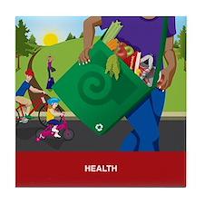 Funny Health Tile Coaster