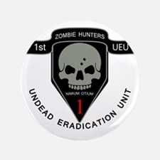 """1st Zombie Hunters 3.5"""" Button"""