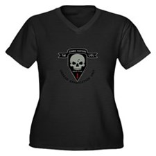 1st Zombie Hunters Women's Plus Size V-Neck Dark T