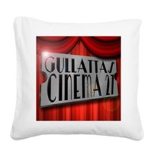 Funny Home theater Square Canvas Pillow