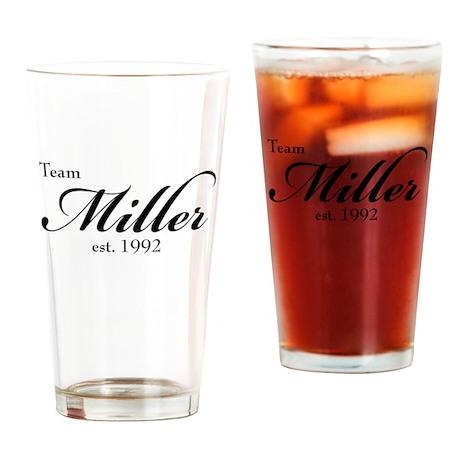 Team Miller Drinking Glass