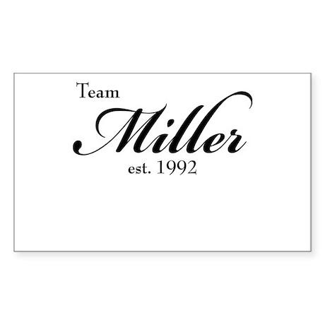 Team Miller Sticker (Rectangle)