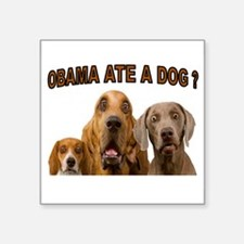"OBAMA DOGS Square Sticker 3"" x 3"""
