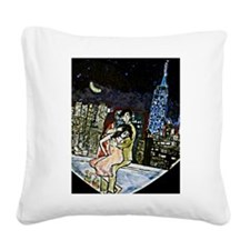 'Rooftops' Square Canvas Pillow