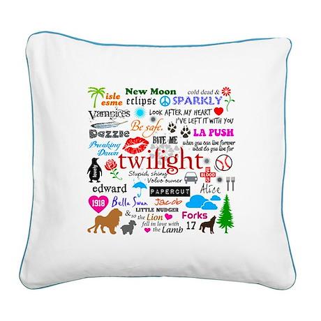 Twilight Memories Square Canvas Pillow
