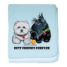 Scottie & Westie Best Friends baby blanket
