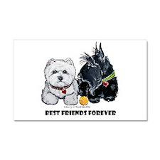 Scottie & Westie Best Friends Car Magnet 20 x 12