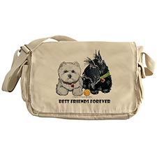 Scottie & Westie Best Friends Messenger Bag