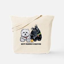 Scottie & Westie Best Friends Tote Bag