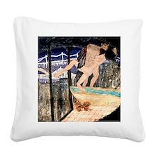 'Bridges' Square Canvas Pillow
