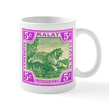 1904 Malaysia Tiger Postage Stamp Mug