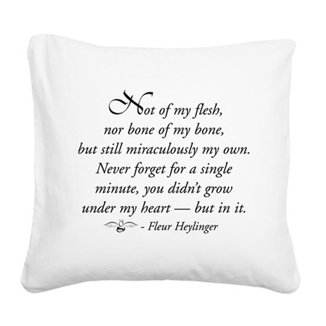 Not of my flesh Square Canvas Pillow