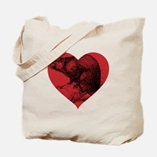 I Love Beaver Tote Bag