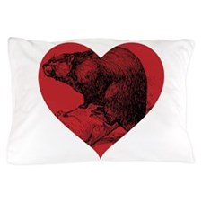 I Love Beaver Pillow Case