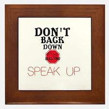 Stop Bullying Framed Tile