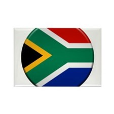 South African Button Rectangle Magnet