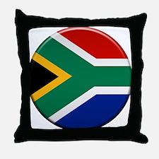 South African Button Throw Pillow
