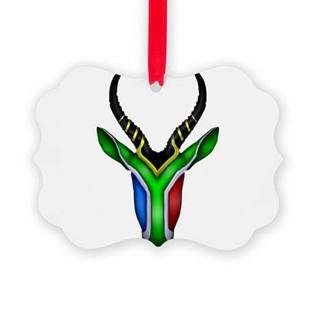 Springbok Flag Picture Ornament