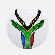 Springbok Flag Ornament (Round)