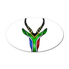 Springbok Flag 20x12 Oval Wall Decal