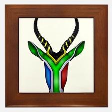 Springbok Flag Framed Tile