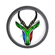 Springbok Flag Wall Clock