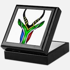 Springbok Flag Keepsake Box