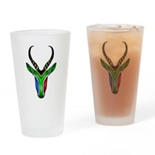 Springbok Flag Drinking Glass