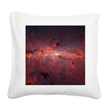 Milky Way Galaxy Center Square Canvas Pillow