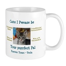 Tesla wants to be your Purrfect Pal! Mug