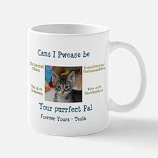 Tesla wants to be your Purrfect Pal! Mug