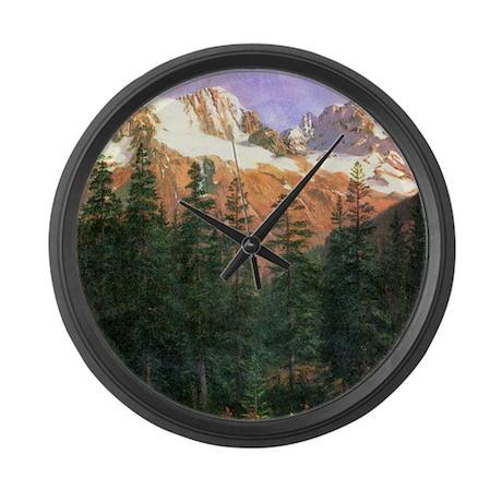 albert bierstadt canadian rockies large wall clock by