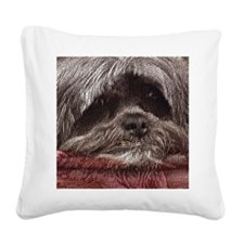Lhasa Apso Pop Art Blitz Square Canvas Pillow