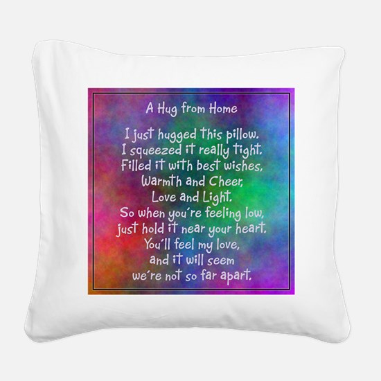 Hug from Home (watercolor light) Square Canvas Pil