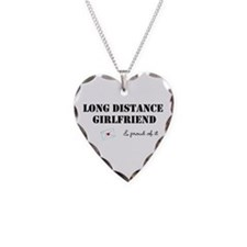 Long Distance Girlfriend Necklace Heart Charm
