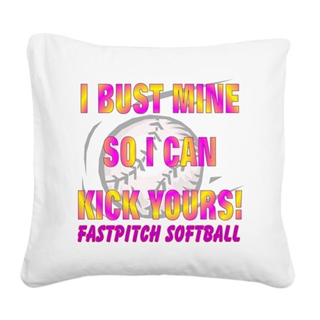 Bust Mine Square Canvas Pillow