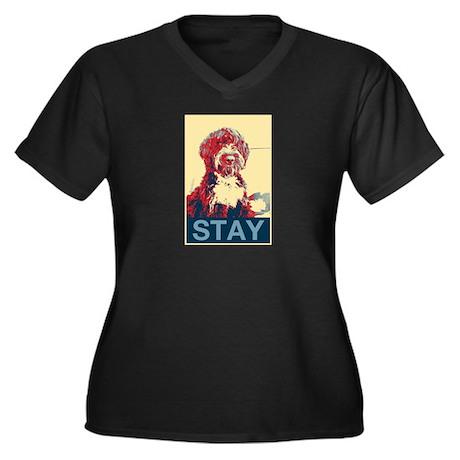 Obama Dogs Women's Plus Size V-Neck Dark T-Shirt