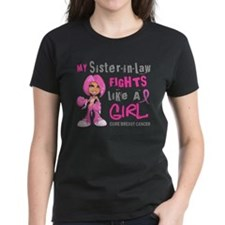 Fights Like a Girl 42.9 Breast Cancer Tee