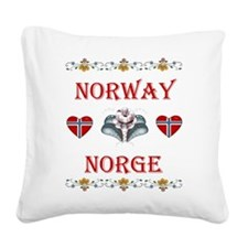 Norway - Norge Square Canvas Pillow
