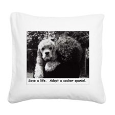 Save a Life Square Canvas Pillow