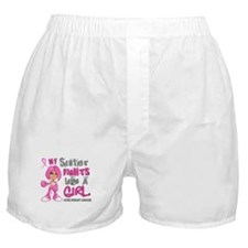 Fights Like a Girl 42.9 Breast Cancer Boxer Shorts