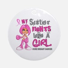 Licensed Fight Like A Girl 42.9 B Ornament (Round)
